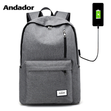 large capacity men double shoulder backbag fashion laptop bag female school backpack Usb charging port business travel backpack недорого