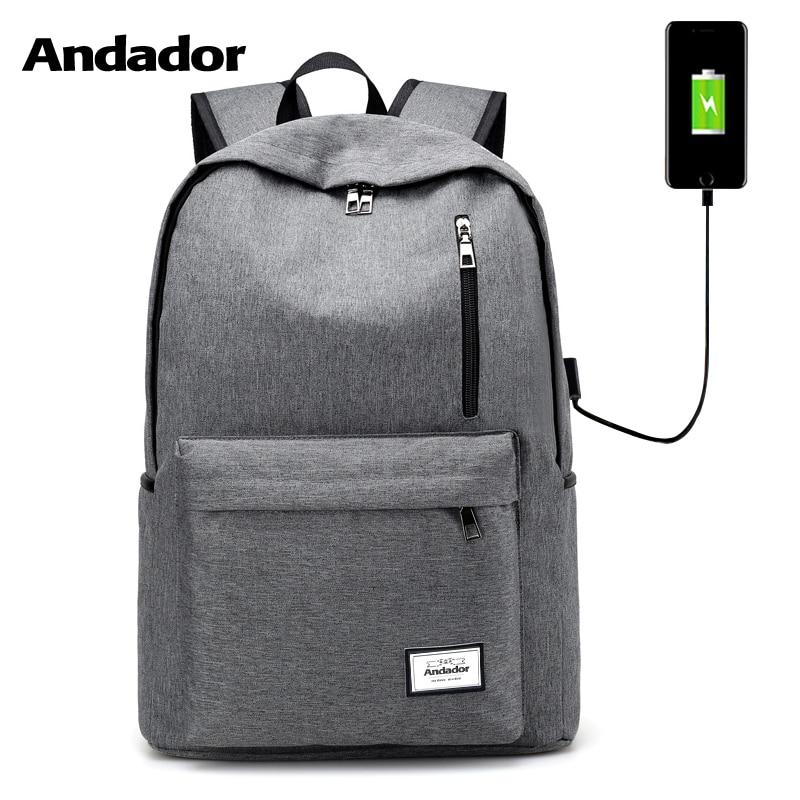 large capacity men double shoulder backbag fashion laptop bag female school backpack Usb charging port business travel backpack