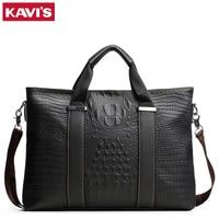KAVIS Design In Italy Famous Brand Genuine Leather Men Messenger Bag Business Luxury Fashion Shoulder Bags