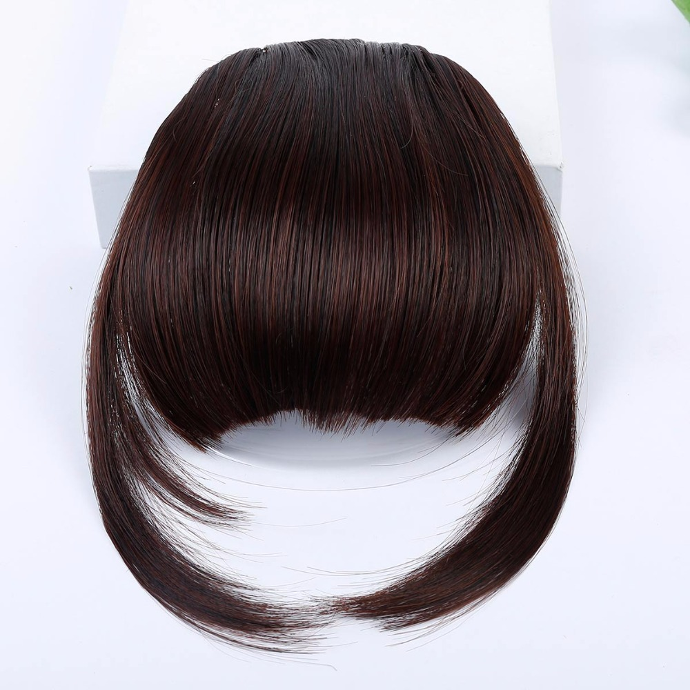 JINKAILI Natural Bang Flase Hair Fringe Hair Extensions Short Frange Hair Bangs Fake Bangs Hair Synthetic For Women