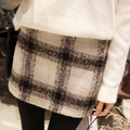 S-3XL 3 Colors Winter Skirts 2017 Spring Autumn Womens New Fashion Plus Size Slim Hips Geometric Gingham Plaid Mini Pencil Skirt