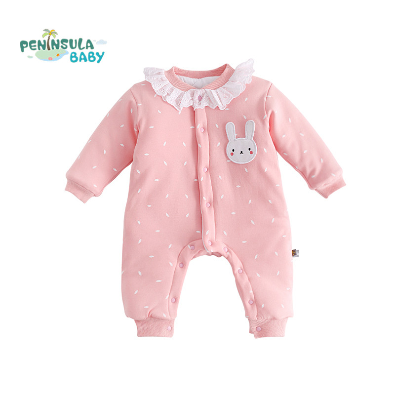 Newborn Baby Rompers Winter Thick Warm Long Sleeve Jumpsuits Kids Boys Girls Clothes Cotton Baby Pajamas Infant Overalls sanlutoz baby rompers set newborn clothes baby clothing boys girls brand cotton jumpsuits long sleeve overalls coveralls winter