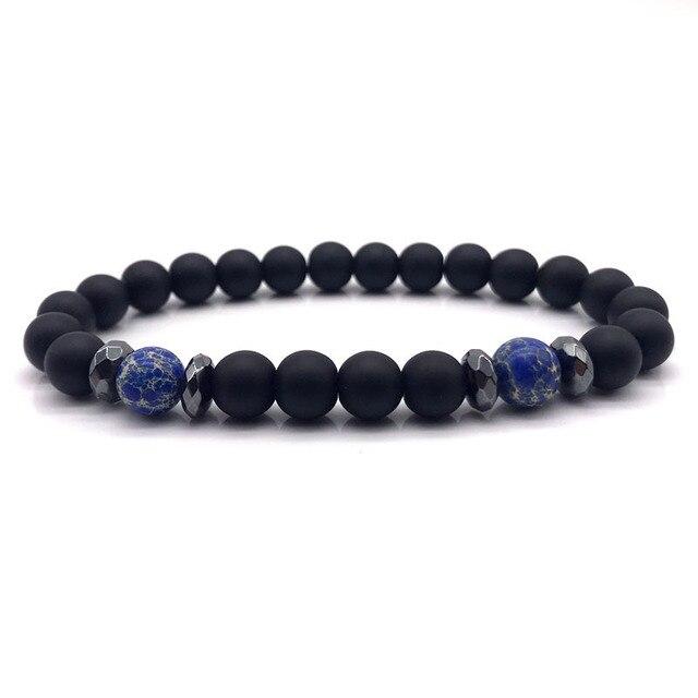 Men Bead Bracelet 2019 Fashion Men Bracelet Simple Beaded Charm Bracelets & Bangles For Men Jewelry Gift