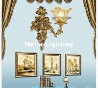 Бесплатная доставка Европейский цинковый сплав Роскошный Crystal Light E14 LED Бра Спальня ночники проход Мрамор настенный светильник brakets