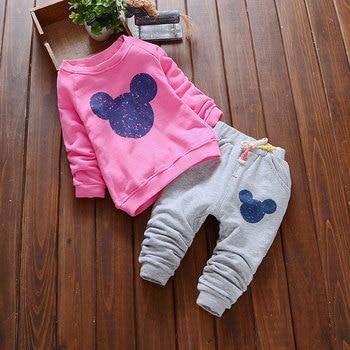 Bear Leader Baby Girls Clothes Casual Spring Baby Clothing Sets Cartoon Printing Sweatshirts+Casual Pants 2Pcs for Baby Clothes 1