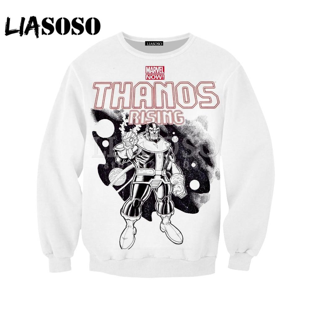 LIASOSO Fashion Women Men 3D Print Avengers:Infinity War Thanos Hoodie Pullover Hoodies Sweatshirts Harajuku Hip Hop Y055