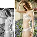 Senhoras Segredo Sexy Sheer Lace Floral Conjunto de Sutiã Roupa Interior Das Mulheres Lingerie Conjuntos de Sutiã A B C D 32 34 36 38 40 42 6 Cores Presente itens