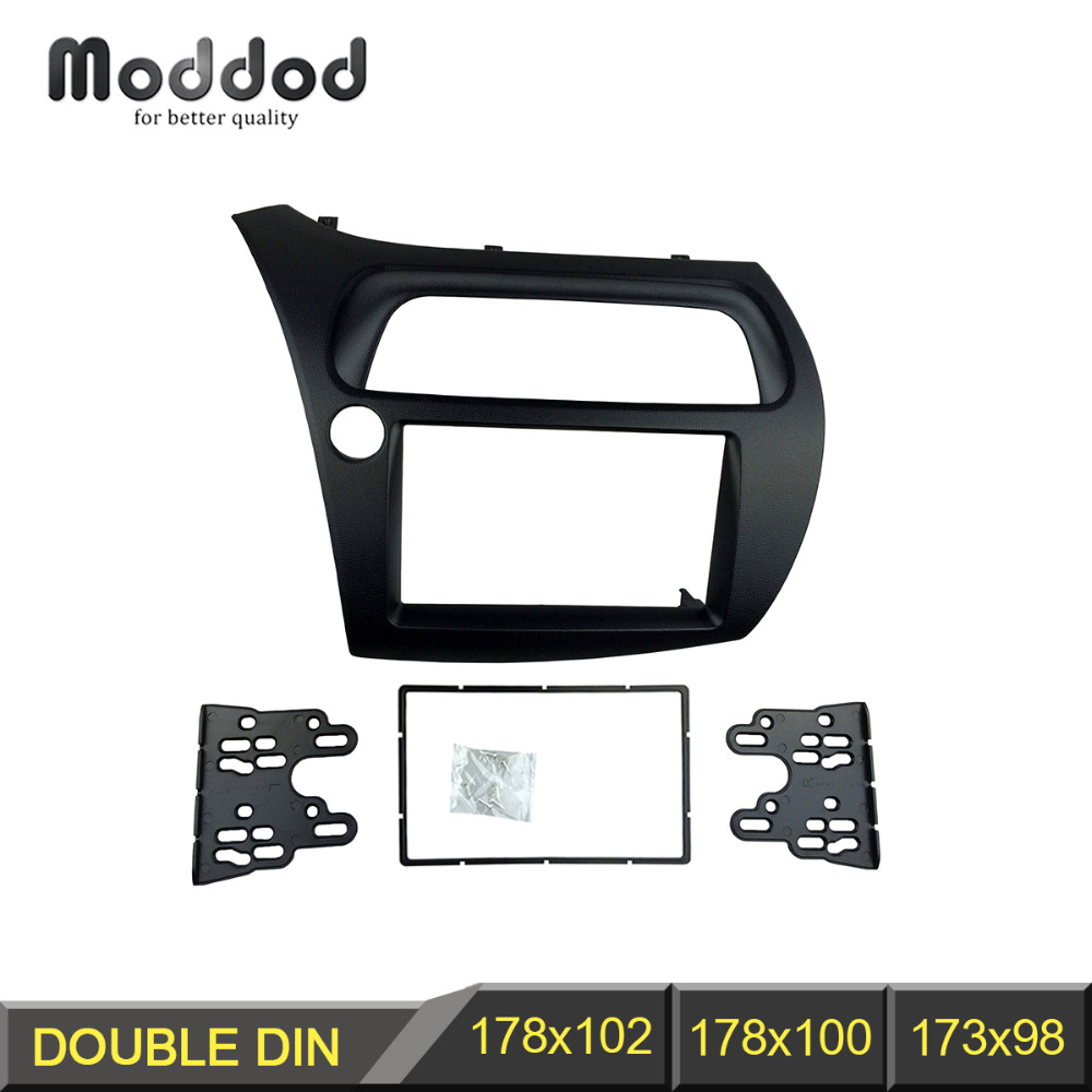 Radio Fascia for Honda Civic 2006-2011 2 Din DVD Stereo CD Panel Dash Mounting Installation Trim Kit Face Frame Bezel  double din fascia fit radio dvd stereo cd panel dash face frame mounting installation trim kit for honda civic