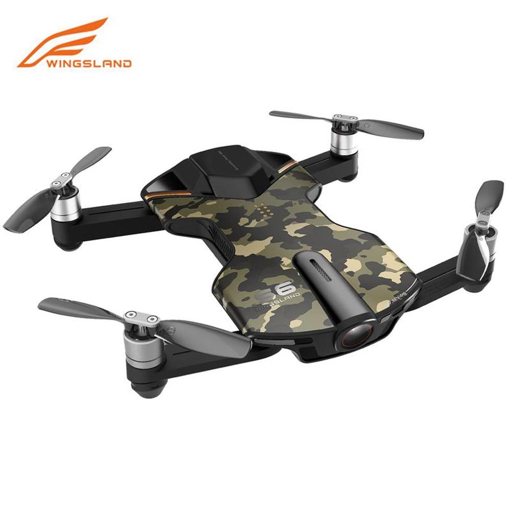 Wingsland S6 Pocket Selfie Drone 4k Camera WiFi FPV With 4K UHD Camera Comprehensive Obstacle Avoidance VS DJI Spark