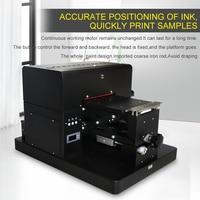 2018 New A4 Flatbed Clothes Printer DTG printer 6 colors printing machine for TPU phone Case Pen t shirt plastic CD printer