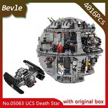 Bevle Store LEPIN 05063 4016Pcs with original box Star Wars series Death Star 3 Model Building Blocks For Children Toys 75159