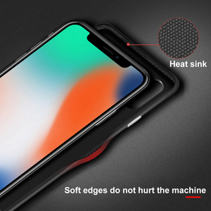 Image 4 - OTAO Leather Shockproof Case For iPhone 8 7 Plus 6 6s Bumper Back Cover For iPhone X XS MAX XR Solid Color Cases Soft Edge Coque