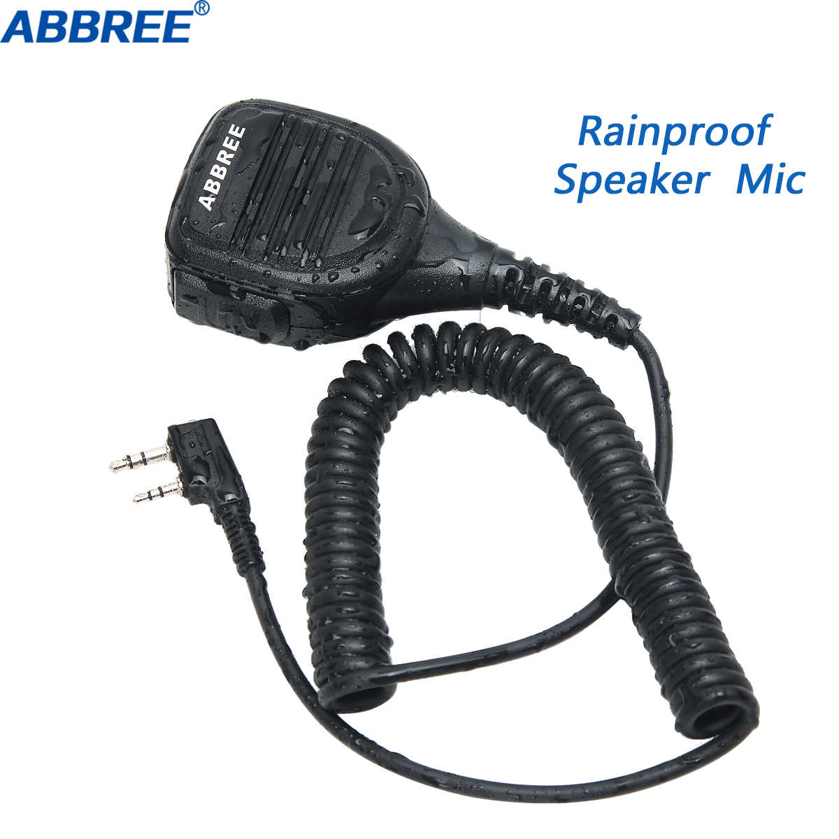 ABBREE AR-760 Radio Lautsprecher Mic Mikrofon PTT für Portable Two Way Radio Walkie Talkie Baofeng UV-5R UV-82 BF-888S UV-S9