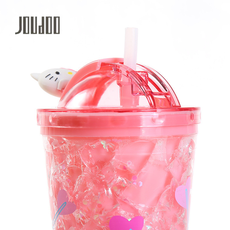 JOUDOO Creative Fashion New Cartoon Slide Ice Bottle Plastic Home Small Gift Bottle
