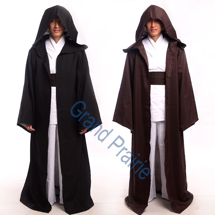Halloween Anime Star Wars Cosplay Darth Vader Cloak Jedi Knight Adult Hooded Robe Unisex Costume Cape for SIZE S-2XL