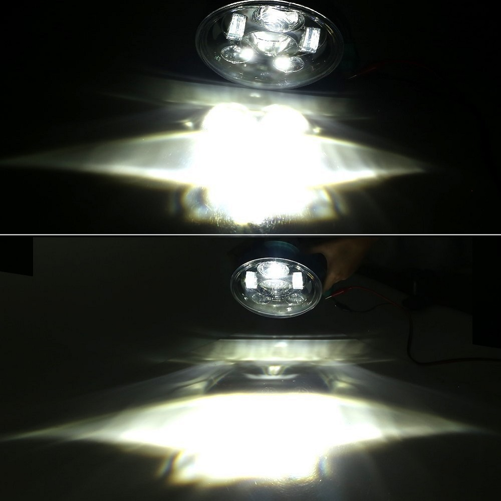 5.75 Inch LED Headlight HighLow Beam 5 34'' LED Headlamp Driving Light for Harley Motorcycle Projector Headlight (6)