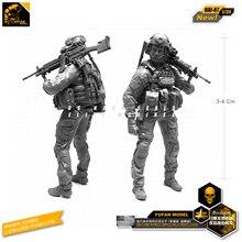 Yufan Model 1/35 Modern American Commando Gunner A Resin Soldier Model Figure Kits Unmounted Nai-07