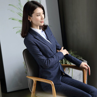 Women's Professional Set 2018 high quality fashion women V neck suits skirt career OL blazer and skirt lady's office OL suit