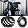 Cubierta de parrilla para faro delantero de aleación de aluminio, personalizada, para Harley Davidson Sportster XL 883 883N 1200 2009-2016, todo nuevo