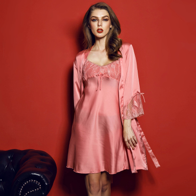 Slik Not Satin Sleepwear Women Nightgown Pijama Sexy Lingerie Lace Dress  Babydoll Indoor Clothing Negligee Robe Pajama Summer-in Robe   Gown Sets  from ... 17ff12766