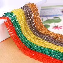 Czech Seed Beaded 230pcs lot 4mm Colorful Crystal Bicone Loose Bead Pink Color DIY Jewelry Faceted
