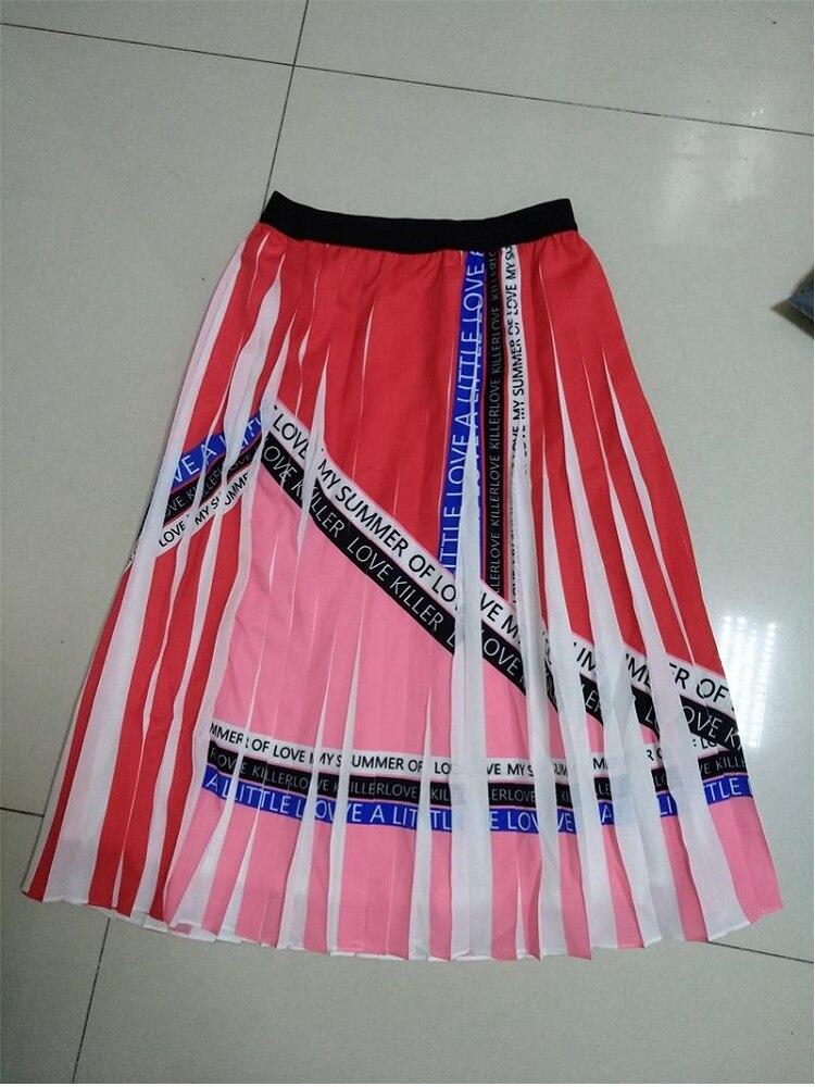 2019 nueva llegada faldas Rosas y faldas plisadas de lujo para damas y niñas para el verano-in Faldas from Ropa de mujer    1