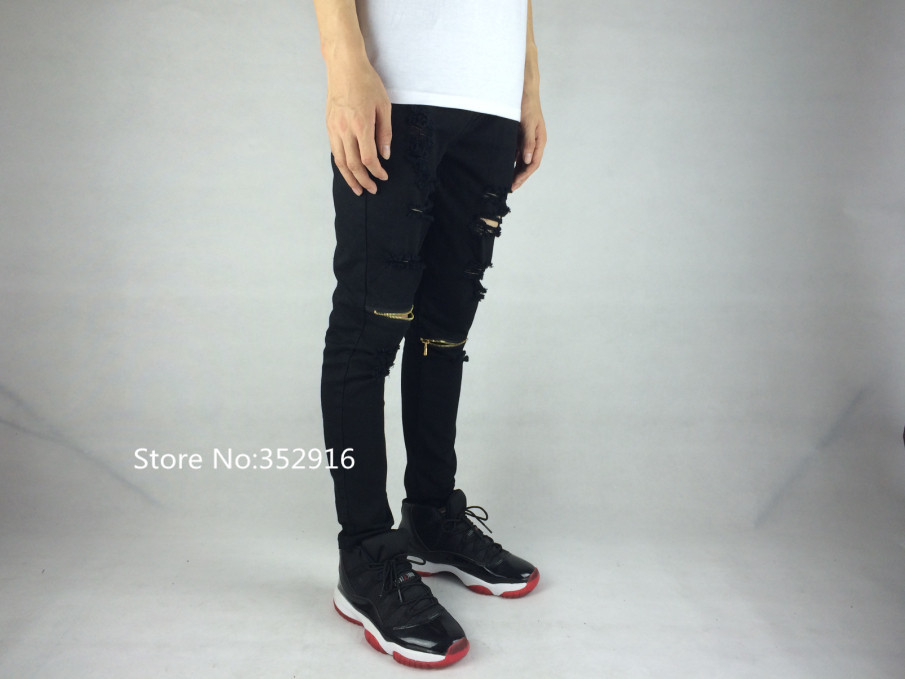 919ab76b2e9dc Aliexpress.com   Buy ripped jeans for men skinny Distressed slim