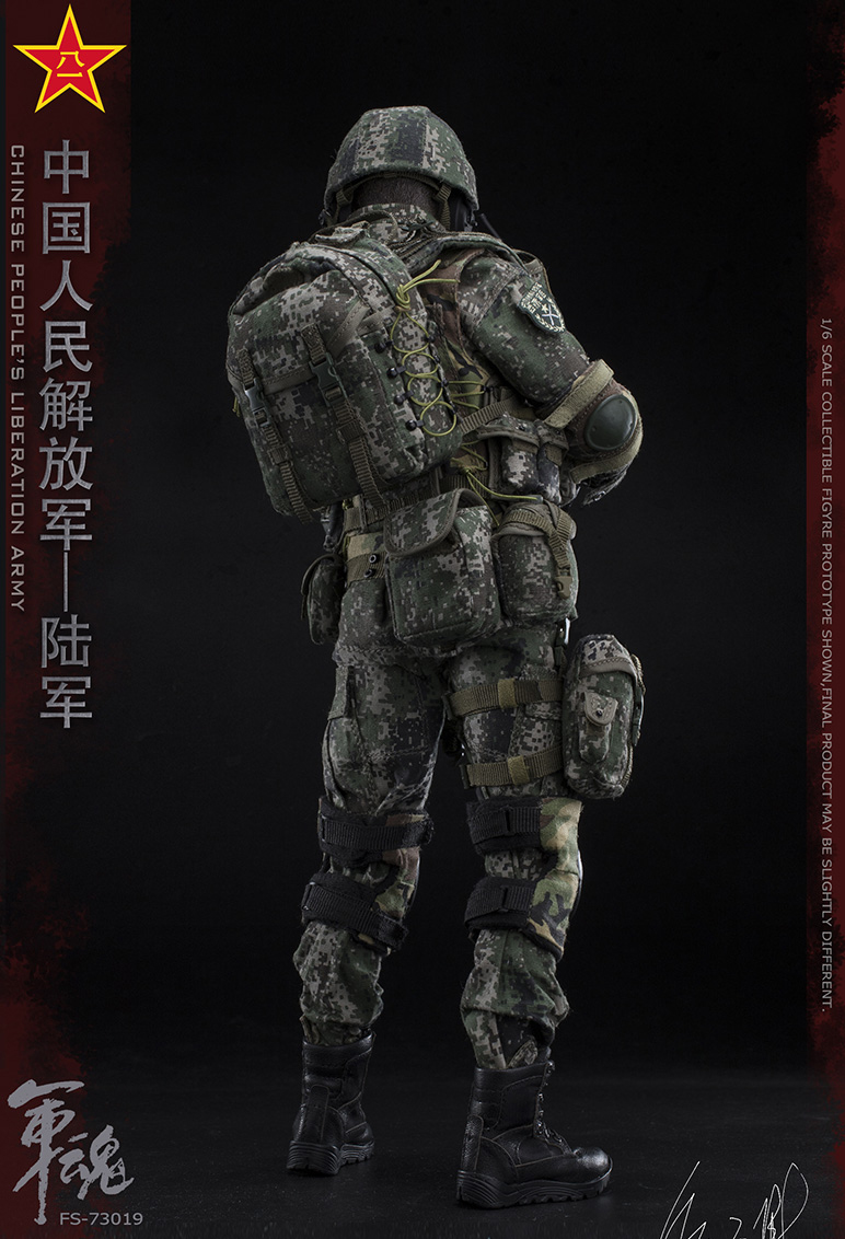 1/6 Scale Chiese People's Liberation Army Soul-Series Army Machine Gunner Military Solider Action Figure Full doll collection 14