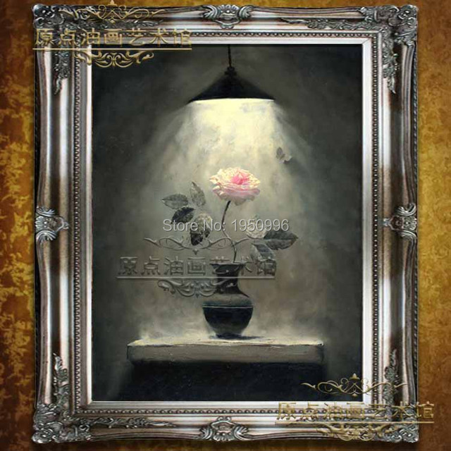 Beautiful Flowers Frameless Pink Rose Elegant Picture Painting Oil Painting On Canvas Home Decoration Painting Wall Art  Artwork