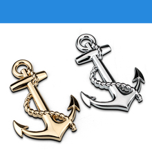New Metal anchor cross navy stickers emblem car styling decal For Zastava 10 Florida Skala Yugo / Scion FR-S iA iM iQ tC xA xD