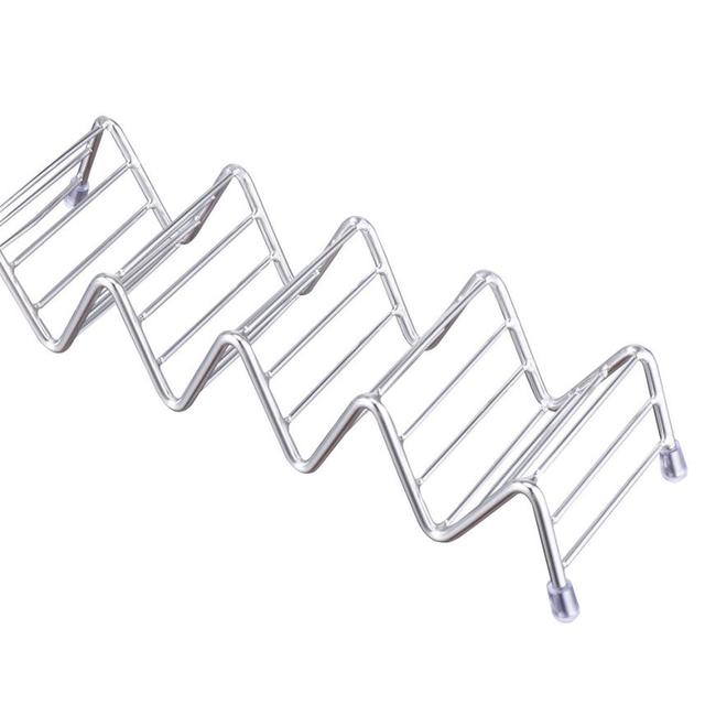 Wave Shaped Stainless Steel Taco Holder