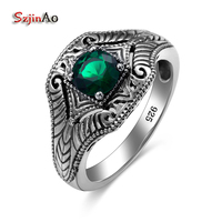 Best Selling 1 43ct Emerald Engagement Ring 100 925 Sterling Silver Round Cut Brand Style For