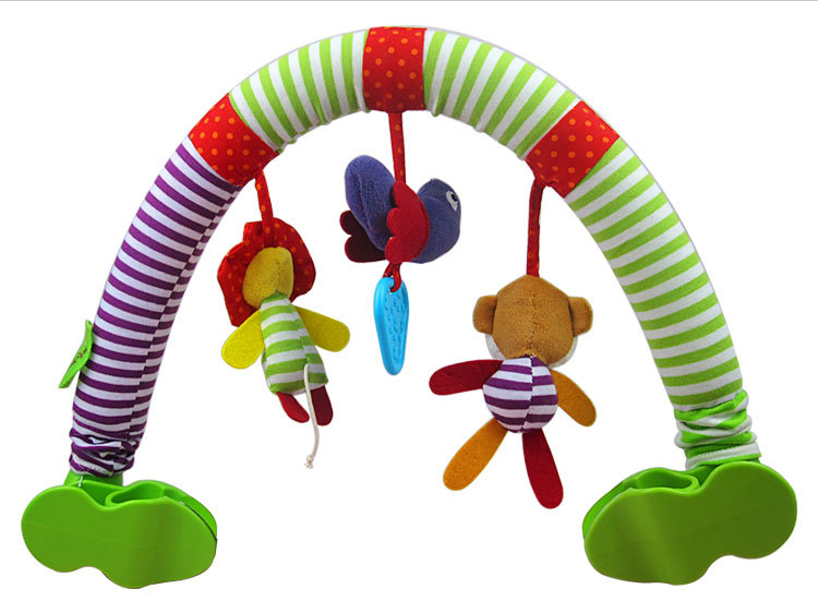 1pc Stroller Crib Musical Mobile Cot Bell Music Box Holder Arm Baby Bed Hanging Rattle Toys For Newborns Learning Education Toy