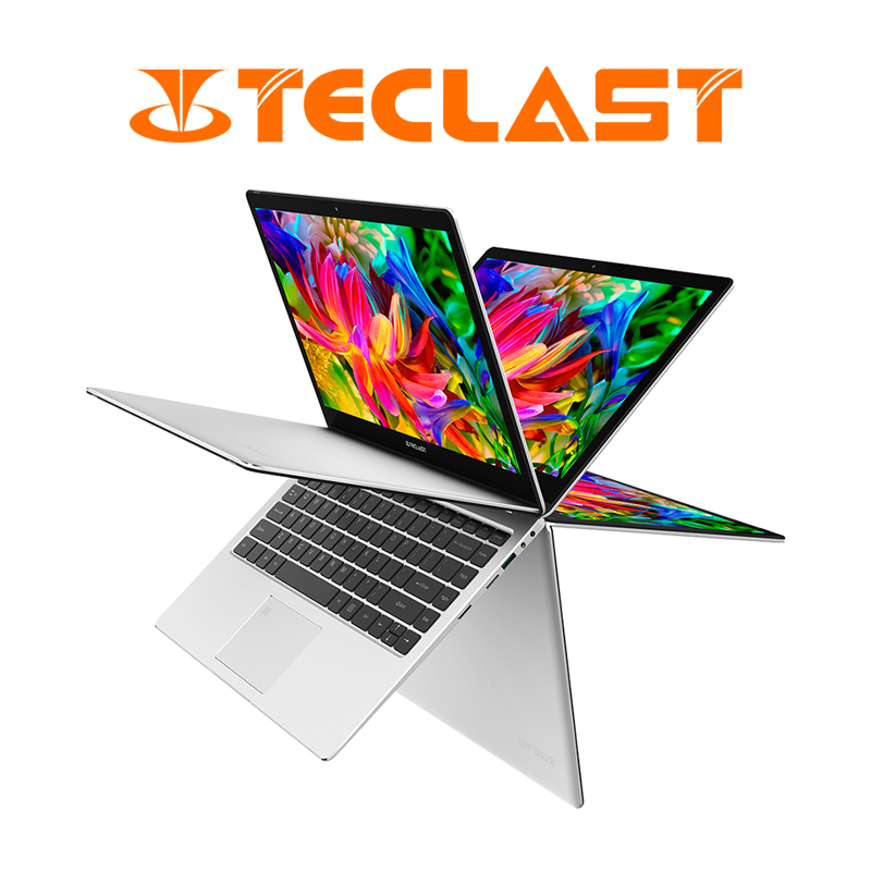 Teclast F6 Pro 360 Degree Laptop Windows 10 OS 13.3 inch 1920×1080 8GB RAM 128GB SSD Intel Core m3-7Y30 Dual Core Notebook