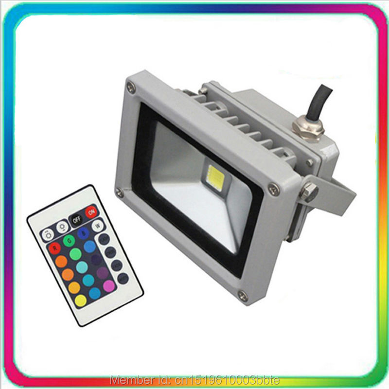Epistar Chip Warranty 3 Years 20W Outdoor Remote LED Flood Light RGB LED Floodlight 10W Color Change Spotlight Tunnel Bulb