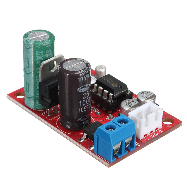 LEORY DC 9 24V AC 8 16V NE5532 Audio OP AMP Stable Microphone Preamps Pre Amplifier Board