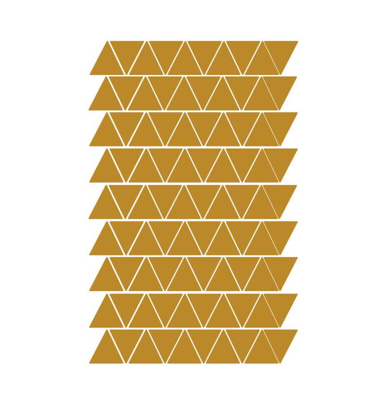 Black White Silver Gold Triangles Wall Stickers For Kids Rooms Wall ...