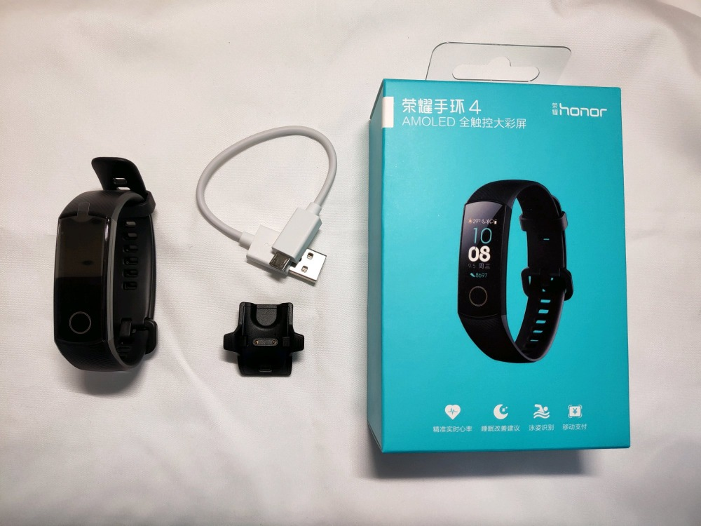 Original nouveau Huawei Honor Bande 4 Smart Bracelet Amoled Couleur 0.95