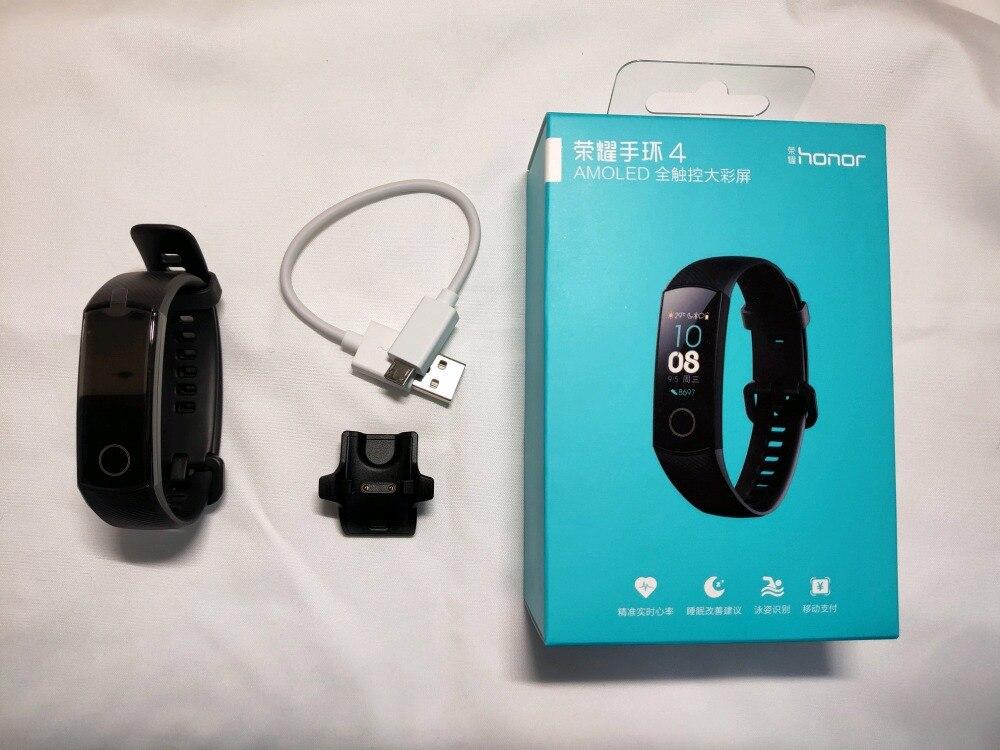 Original nuevo Huawei Honor banda 4 pulsera inteligente Amoled Color 0,95