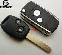 цена на 2 Buttons Remote Folding Key Shell Fit For Honda Pilot CRV Accord Civic Fob Modified Keyless Case Flip Foldable replacement 2B