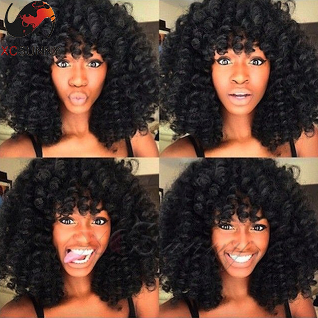 New Arrival! 6 A Virgin Brazilian Hair Loose Curl Wig Full Lace Human Hair Wigs With Bangs Glueless Lace Front Human Hair Wigs