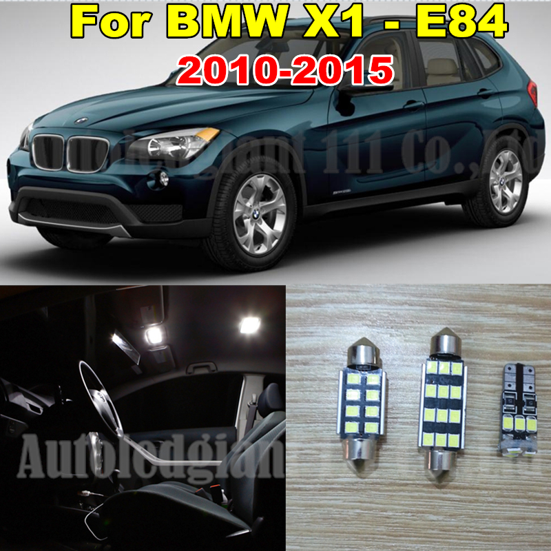 WLJH 13x Canbus Pure White No Error LED Car lighting Light for BMW X1 E84  Interior light LED Kit 2010 2011 2012 2013 2014 2015 wljh 2x canbus no error led p21w 1156 ba15s drl driving daytime running fog lamp light for vw sagitar jetta mk6 2011 2012 2013