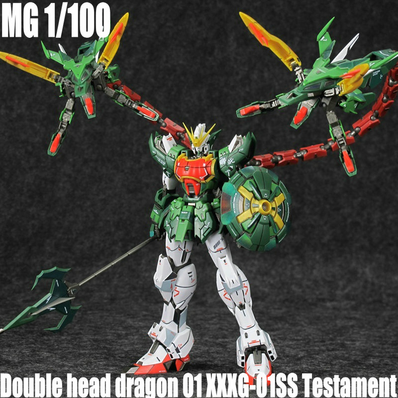 SUPER NOVA Gundam MG 1 100 Double head dragon 01 XXXG 01SS Testament Mobile Suit Anime