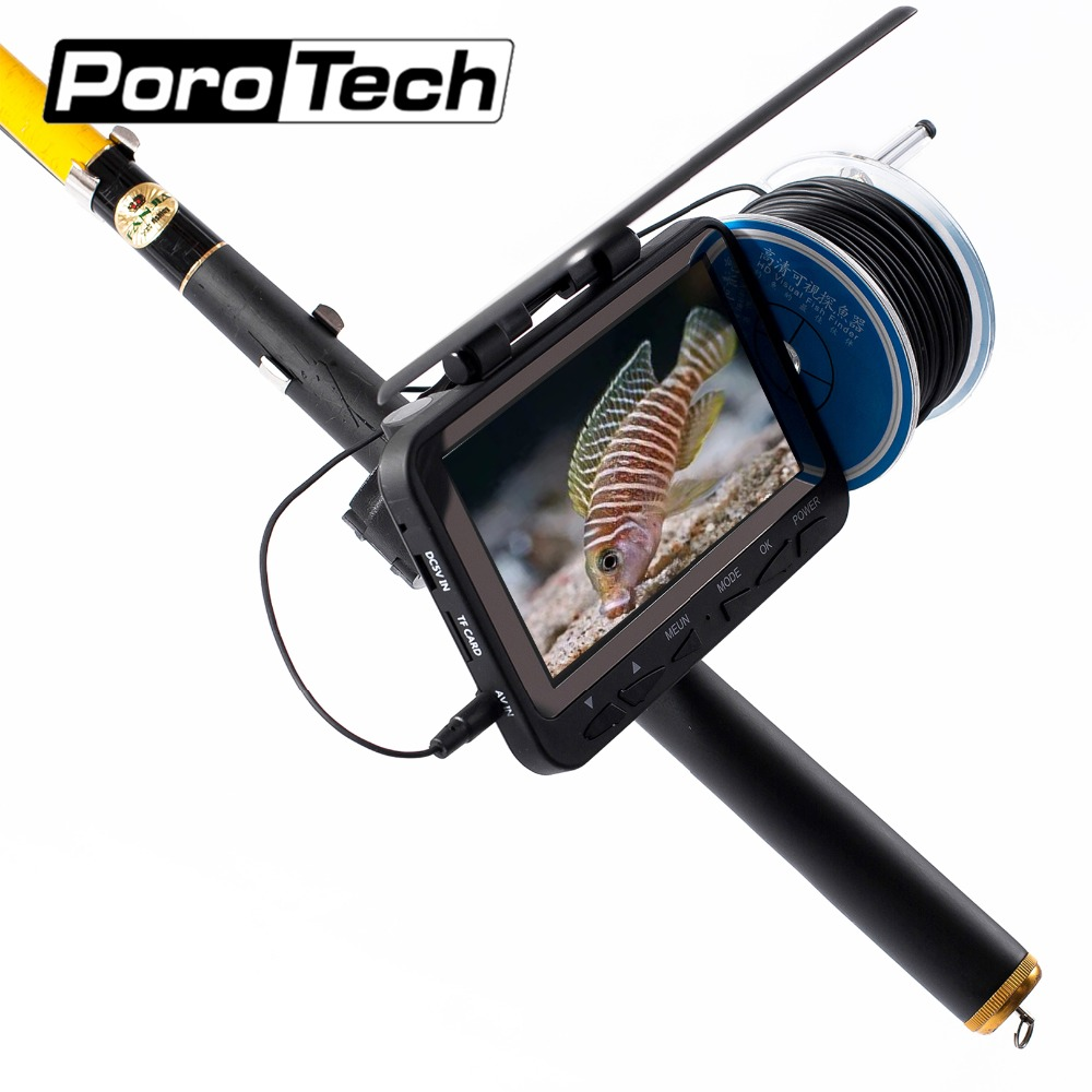 WF06 30M underwater ice fishing video camera monitor 1000tvl fish finder for sports entertainment underwater fishing