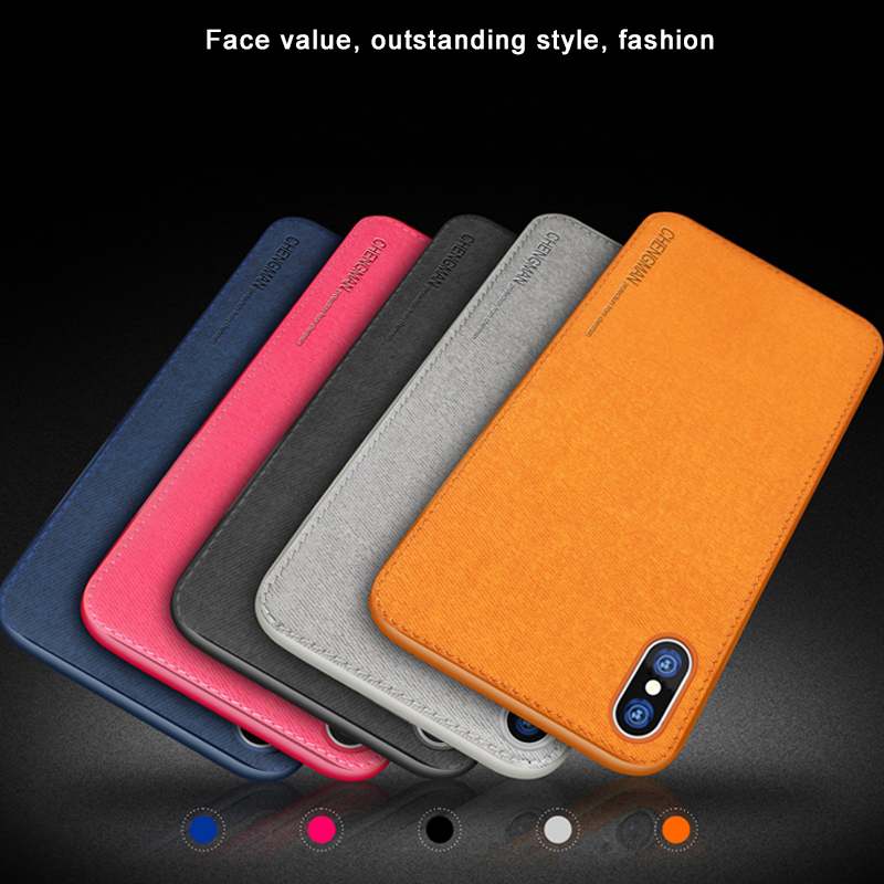 Vintage Ultra Slim Business Fabric Soft Cloth Protect Phone Cases For iPhone 4