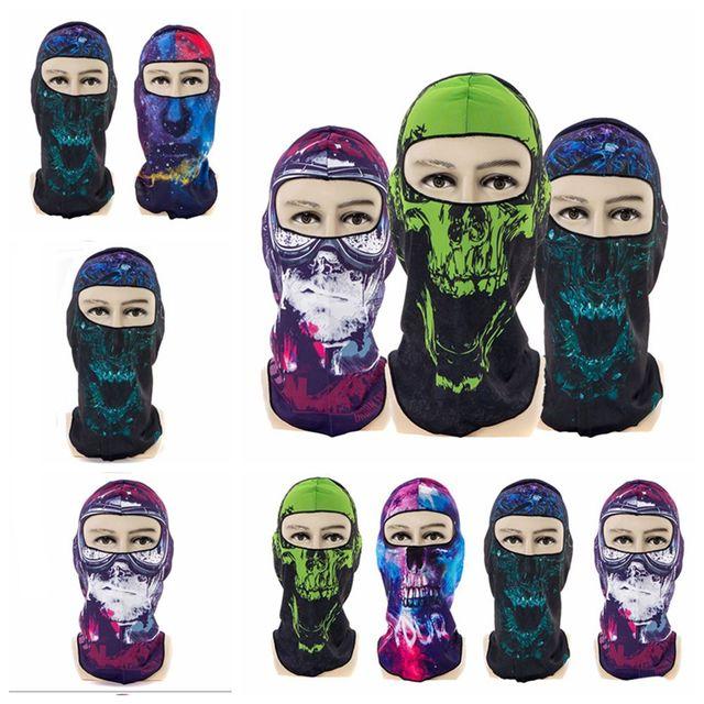 1Pcs Summer Sports Windproof Skull Face Mask Cycling Anti-UV Head Scarf Ski Balaclava Headband Cycling Accessories