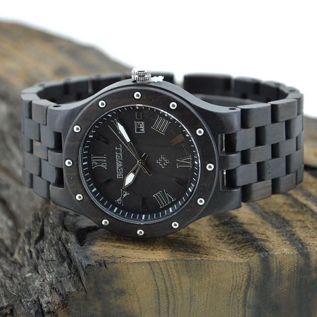 Zegarek męski drewniany BEWELL ciemne drewno