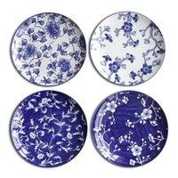 Jingdezhen Blue And White Creative Dish Ceramic Dish Plate Hanging Wall Hanging Western Dessert Dish Bakeware Decorative Plate