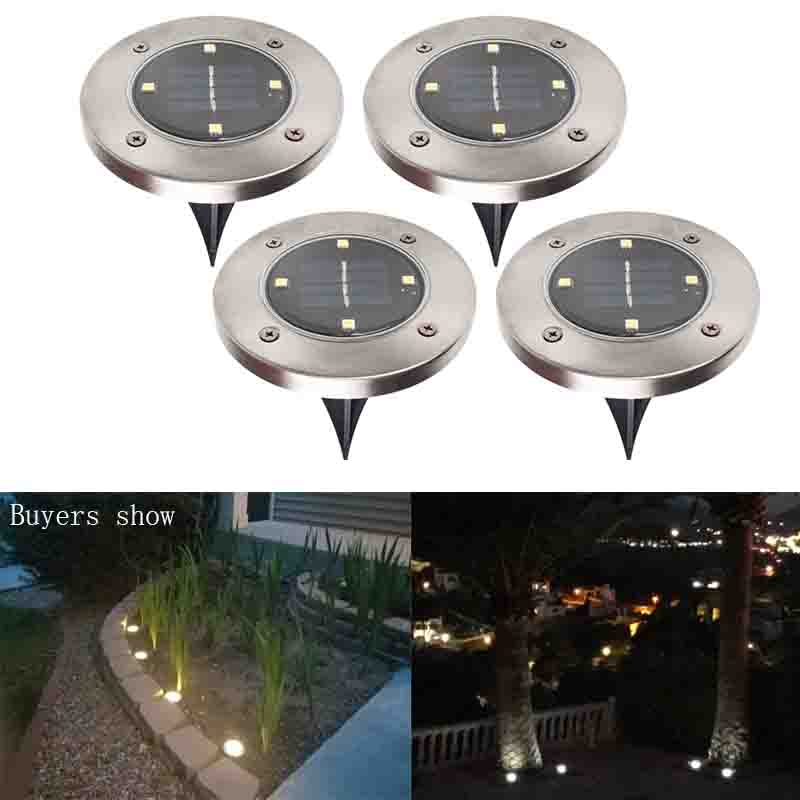 Solar Powered Ground Light Waterproof Garden Pathway Deck Lights With 8 LEDs Solar Lamp for Home Yard Driveway Lawn Road css rechargeable waterproof solar powered 30 led spot light white lamp with lithium battery inside for lawn garden road hot
