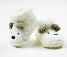 Baby Socks for Newborn Infant Toddler Boys Girls bear Crib Warm Shoes winter children sock shoes Sapatos meias infantis(China)